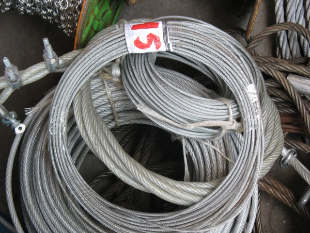 Plastic coated metal cables