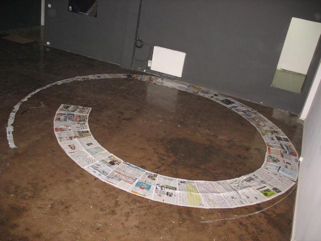 Newspaper swirl